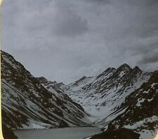 Inca Lake, In the Heart of the Andes Mountains, Chile, Magic Lantern Glass Slide
