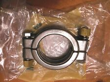 """New listing 2"""" McMaster-Carr High-Pressure Bolted Clamp High Polish 304 Stainless Steel"""
