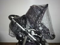 2x RAINCOVER Zipped to fit iCandy Apple to Pear Seats or Carrycots Double Twin