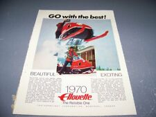 """1970 FEATHERWEIGHT """"ALLOUETTE"""" & EVINRUDE BOBCAT SNOWMOBILE..SALES ADS..(219W)"""