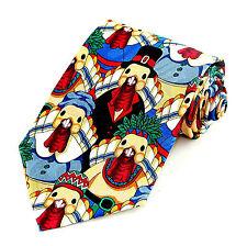 Turkey Pilgrims & Indians Mens Necktie Happy Thanksgiving Funny Neck Tie New