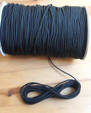 4MM Black Draw string Braided Cord x 10 meters