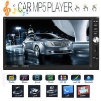 "Double 2Din 7"" HD Touch Car Stereo MP5 Player Bluetooth FM Radio RC Mirror Link"