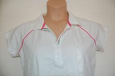 White Stretch Polo Shirt Contrasting Trim Liz Claiborne Size Large BNWT