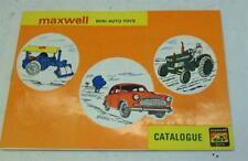 MAXWELL (INDIA) MINI AUTO MODELS CATALOGUE PRISTINE
