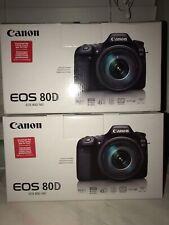 Canon EOS 80D 24.2MP Digital SLR Camera - Black (Body Only) BRAND NEW IN BOX
