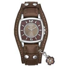 30 m (3 ATM) Polierte Armbanduhren aus echtem Leder mit Rechteck