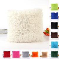 Pillow Case Super Soft Plush Sofa Decor Throw Pillow Case Cushion Cover Square