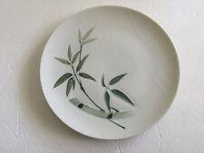 "Japan China Bamboo Pattern White Green Handpainted - 9-3/8"" DINNER PLATE"