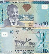 OCASIÓN. Billete SIN CIRCULAR de NAMIBIA. 10 Dollars. Año 2012 (P-New). UNC