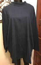 20/22 Ulla Popken Navy Turtleneck 100% Cotton 3/4 Sleeve Plus Size