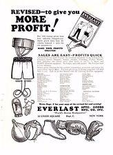 1930 Sporting Goods Journal Ad~ Everlast Boxing Wrestling & Gym Equipment~Tennis