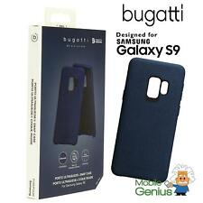 Samsung Galaxy S9 Ultrasuede Snap Protective Slim Case Cover Blue by Bugatti