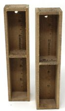 2 -Wood Ruler Wall Miniatures/Collectibles Display Shelf Shadow Box single wide