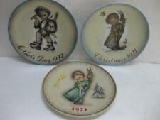 Lot 3 Hummel Plates annual Christmas 1971 1972 Mother's Day plate first addition