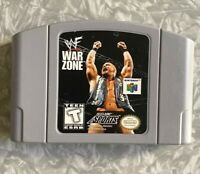 N64 WWF War Zone Wrestling Nintendo 64 Authentic Cartridge Cleaned & TESTED VG