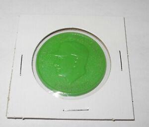 1960 Armour Baseball Coin Token Pin Mickey Mantle New York Yankees Green Color