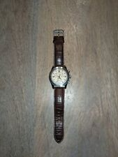 Genuine Tissot V8 T36.1.316.72 Stainless Brown Leather Band Swiss Made