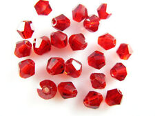 Bulk 30pcs Red Glass Crystal Faceted Bicone Beads 8mm Spacer Jewelry Findings