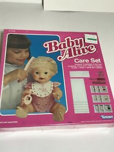 NIB Vtg 1984 Kenner Baby Alive Care Set SEALED  Food Diapers Brush Comb Pacifier