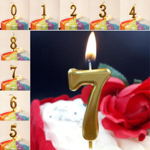 Gold Silver Mini Birthday Candles Kids Birthday Party Number Candles Cake Decor