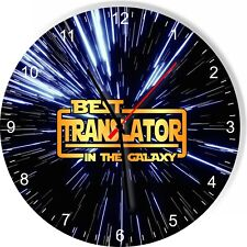 Best Translator in the Star Galaxy Space Kitchen Living room Wall Clock