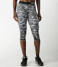 NWT Damen Nike Pro Haze Kompression Capri Leggings 729415-100 $45 schwarz/weiß XS