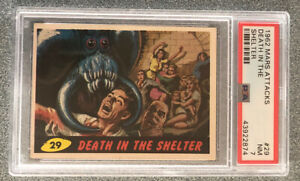 1962 Mars Attacks Topps #29 PSA 7 Death In The Shelter No Reserve