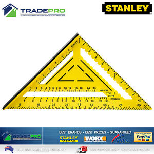 """Stanley® Measuring Square PRO-SERIES 12"""" 300mm ABS Builders Trade Triangle Angle"""