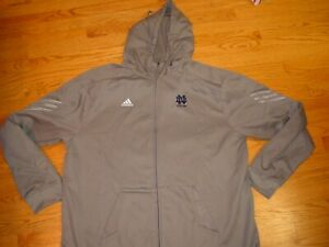 New Mens 3XL Adidas Navy Notre Dame Fighting Irish Hoodie Hooded Sweatshirt $70
