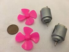 2 Sets 140 PINK Motor DC Propeller Solar 3V to 6V prop boat plane diy 40mm B10
