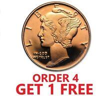 1/4 Ounce .999 Fine Copper Round - Mercury