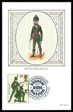 GB UK MK 1983 BRITISH REGEMENTS SOLDIER SOLDATEN UNIFORM MAXIMUMKARTE MC CM as27
