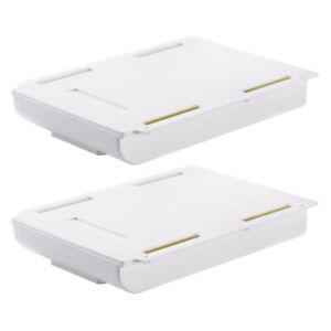 2x Under Desk Pencil Drawer Tray Organizer Hidden Storage Box Stationery Holder