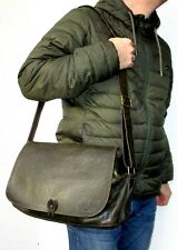 MULBERRY Messenger Bag Large Natural Grain Leather Forest Green 38 cm