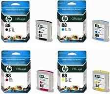 4 X ORIGINAL HP 88  BLACK CYAN MAGENTA YELLOW L7680 L7780 L7590 K550 K5400 K8600