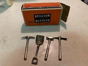 HB - 653 Lionel Prewar - 812T Tool Set Pick (2), Shovel, Hammer OB