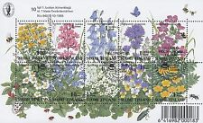 Finland 1994 Used Full Sheet of Stamps (10) - Meadow Flowers - First Day Cancel