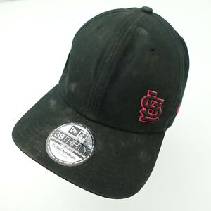 St Louis Cardinals New Era Black Pink Ball Cap Hat Fitted S/M Baseball Adult