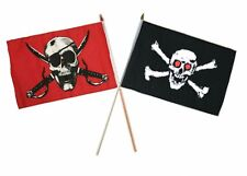 "12x18 12""x18"" Wholesale Combo Pirate Crimson & Red Eyes Eye Skull Stick Flag"