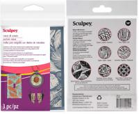 Sculpey Arcilla Kit de Pantalla de Seda 14 patrones de serigrafía Kit-polímero de joyería