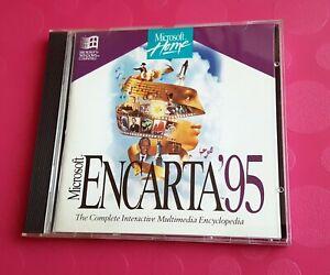 Microsoft Encarta 95 Encyclopedia Vintage Educational Reference CD