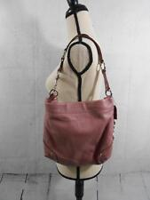 Coach Carly Hobo Bag Pink Mauve Lilac Purple Pebble Leather F15251 Pink Handbag