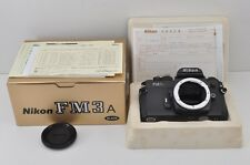 Nikon FM3A 35mm SLR Film Camera Black Body Only with Box #170613a