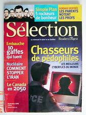 SÉLECTION DU READER'S DIGEST DE SEPTEMBRE 2006, EN COUVERTURE CHASSEURS DE PÉDOP