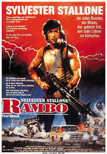 First Blood (1982) Rambo Sylvester Stallone cult movie poster print