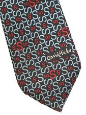DAVID HICKS OF LONDON NECKTIE S LOGO KATAKURA WATAKO VINTAGE 1960's