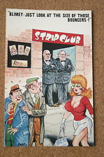 Vintage Postcard: Bamforth 852, Strip club, Bouces, Busty Woman, Comic, Chaso