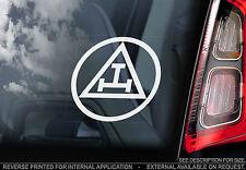 The Triple Tau - Car Window Sticker -Order Chapter Royal Arch Freemason Masonic