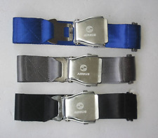 Jean Belt With Airplane Airline Seat Belt Buckle Fashion belt BLACK BLUE 55 Inch